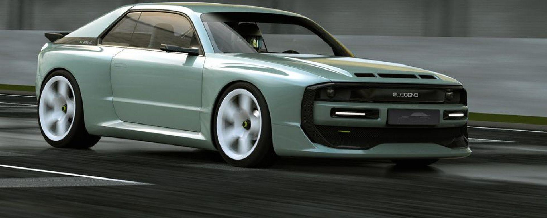 E-Legend EL1: il rendering della replica di Audi Quattro con motore elettrico