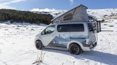 e-NV200 Winter Concept, la tenda sollevabile per i due posti letto