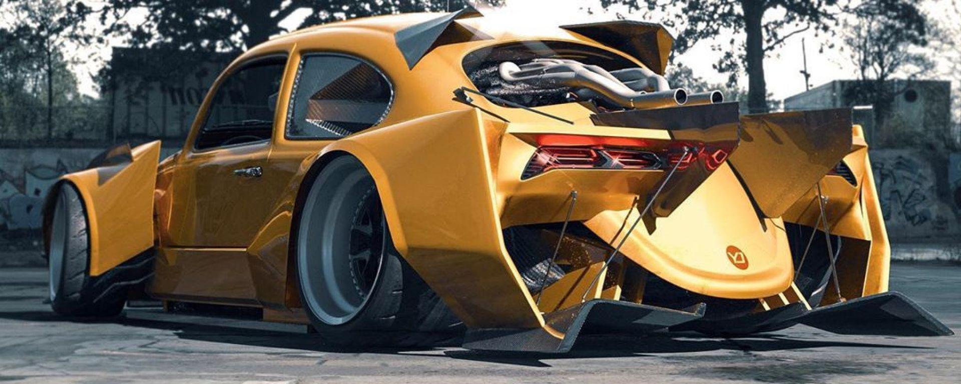 E se il Maggiolino diventasse una Corvette? 3D Art senza limiti