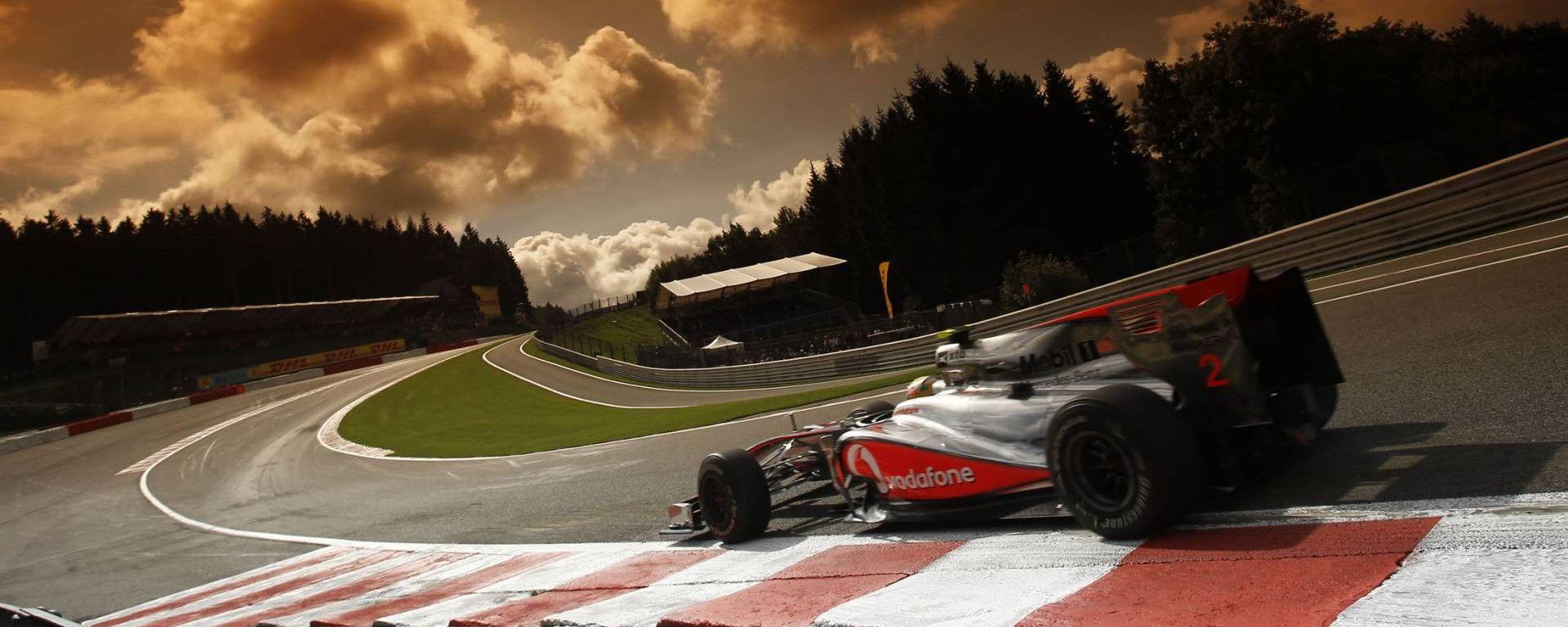 Eau Rouge - iconica curva del tracciato di Spa - Francorchamps