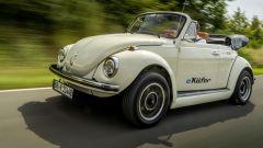 eBeetle (eKafer): il vecchio Volkswagen Maggiolino elettrico, vista 3/4 anteriore