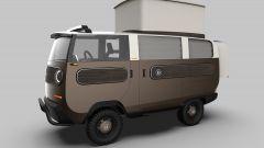 eBussy: versione camper con tenda aperta