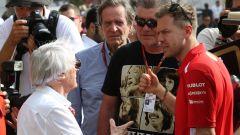 Ecclestone con l'amico Sebastian Vettel