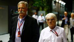 Ecclestone e Carey - il vecchio e il nuovo patron della F1
