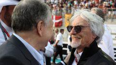 Ecclestone e il presidente della Fia, Jean Todt