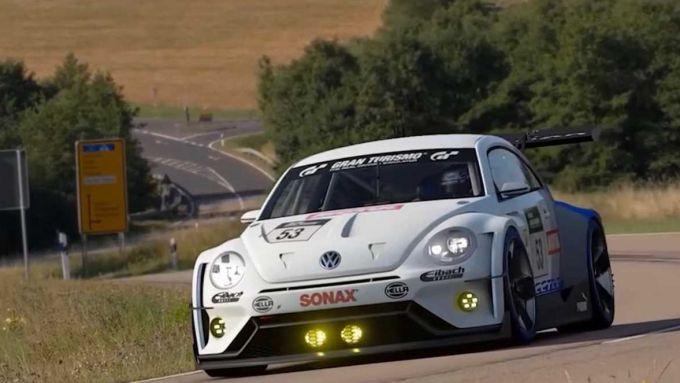 Ecco come appare il Maggiolino Volkswagen nel videogame Gran Turismo Sport per PlayStation
