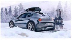 Alfa Romeo SUV compatto: ecco immagini e render del piccolo Stelvio