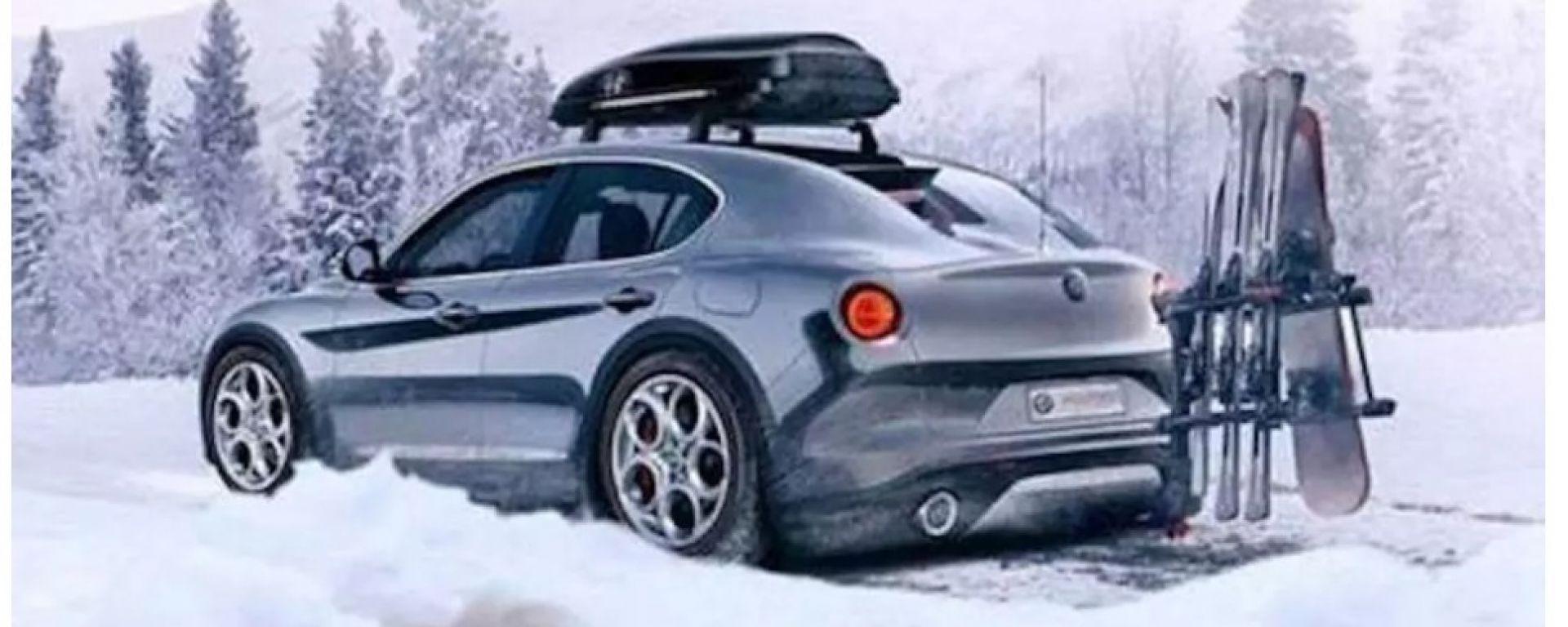Alfa Romeo SUV compatto: ecco immagini e render del