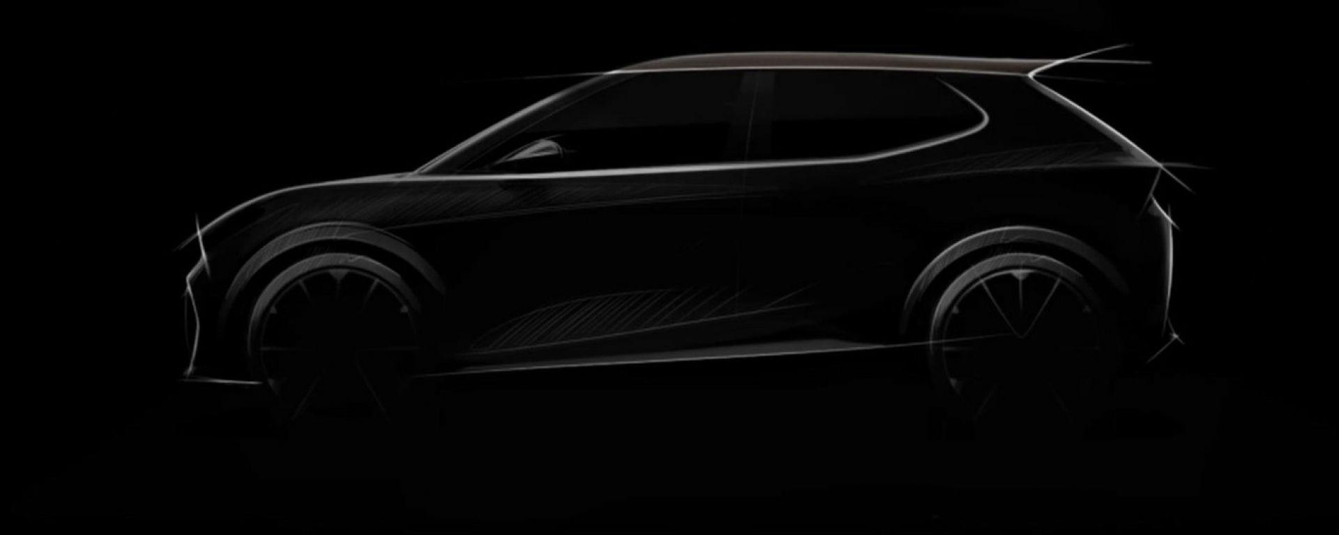 Ecco le linee fondamentali della nuova auto elettrica compatta Seat Cupra per il 2025
