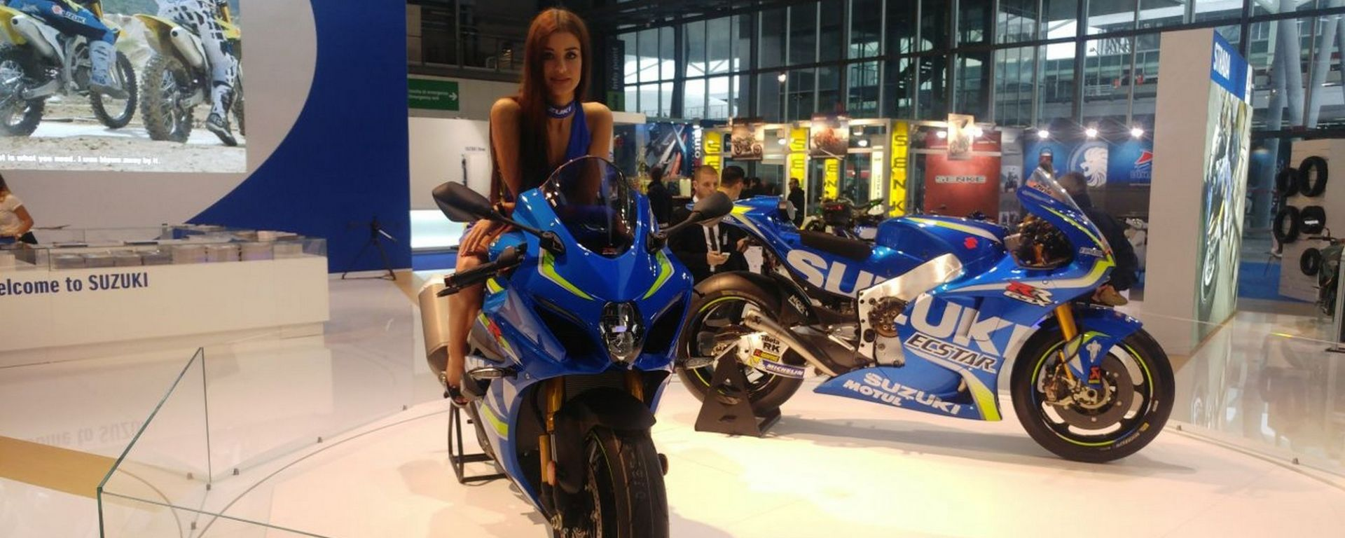 EICMA 2017, lo stand Suzuki