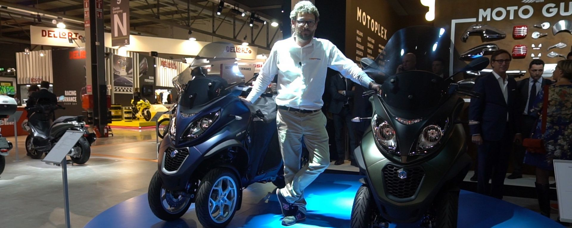 EICMA 2017: Piaggio MP3 350 e 500 versione Sport e Business [VIDEO]