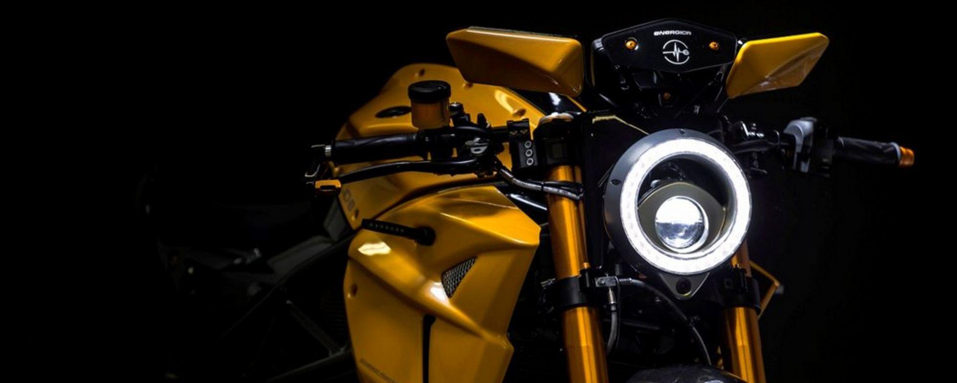 Energica Bolid-E, la moto elettrica intelligente by Samsung