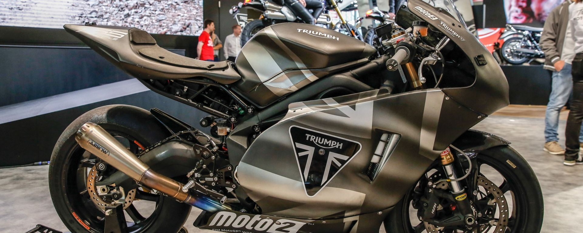 Eicma 2018, nuova Triumph Moto2 2019. Come testimonial... [VIDEO]