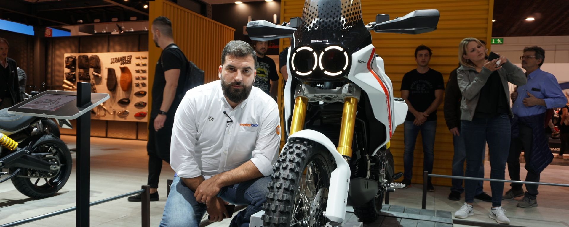 Ducati Scrambler Desert X in video da Eicma 2019