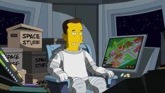 Elon Musk in versione cartoon in una puntata dei Simpson