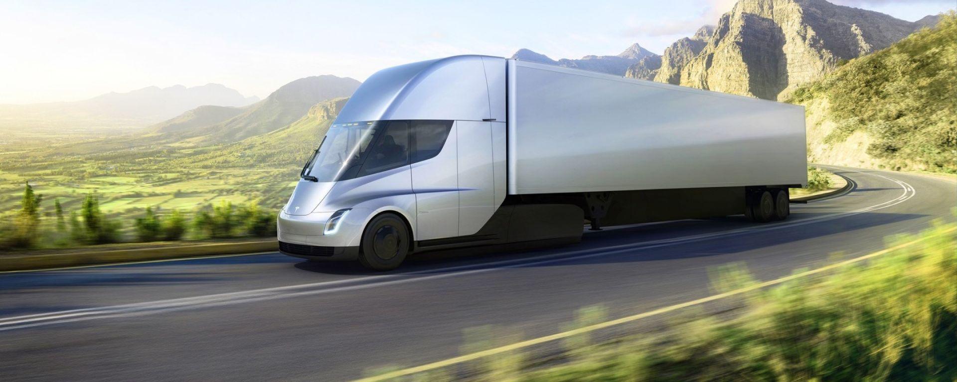 """Tesla Semi: il camion elettrico che fa da 0 a 96 km/h in 5"""""""