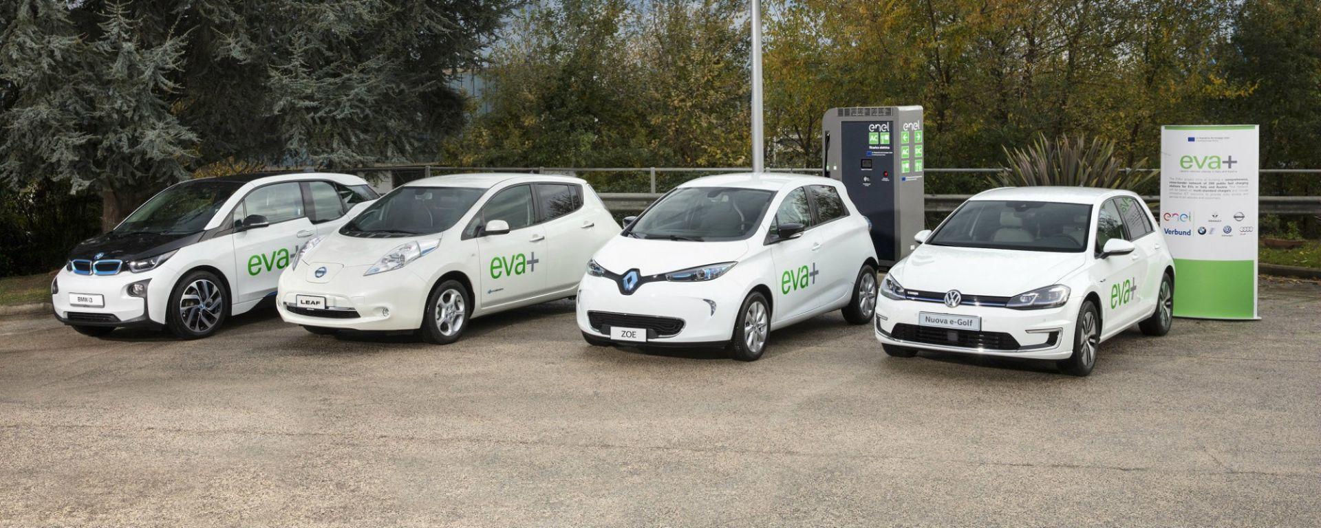 Enel, Audi, BMW, Nissan, Renault e Volkswagen uniti nel progetto EVA+