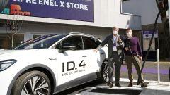 Enel X Store a Roma: Francesco Venturini CEO di Enel X e Massimo Nordio CEO di Volkswagen Group Italia