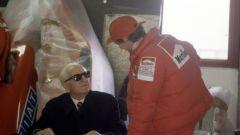 Enzo Ferrari con Niki Lauda