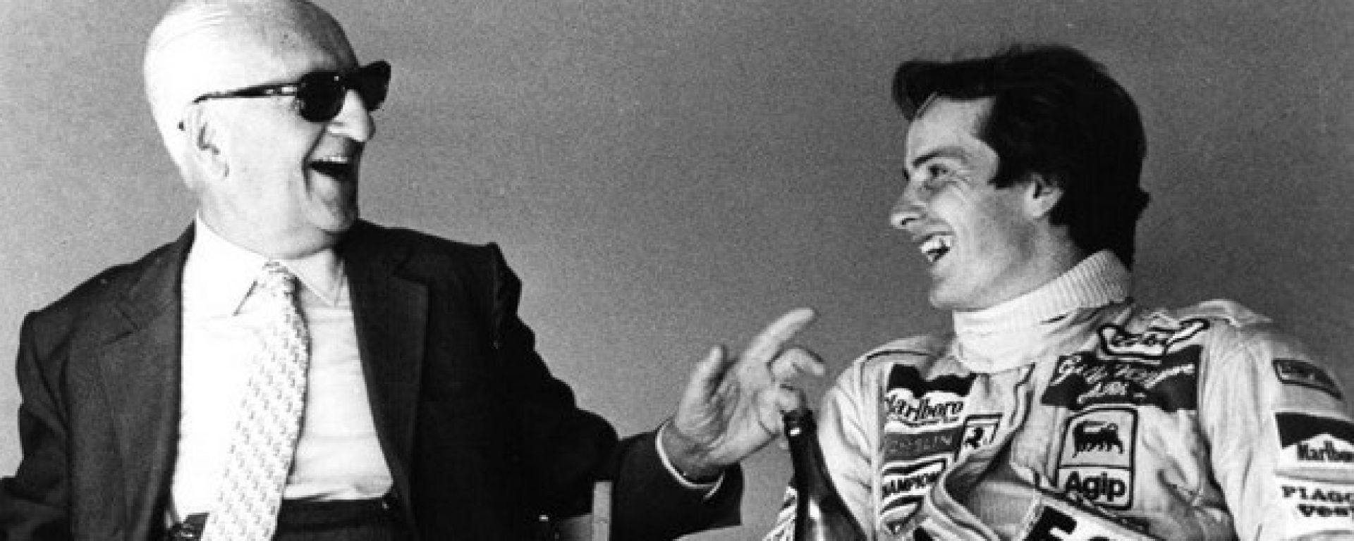 Enzo Ferrari e Gilles Villeneuve