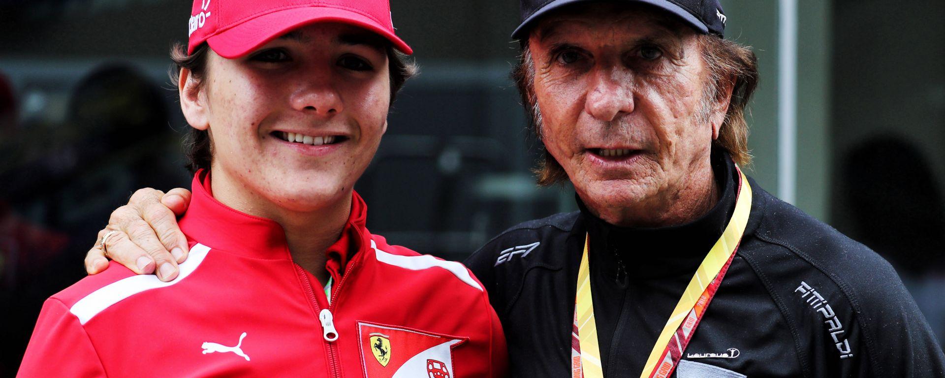Enzo Fittipaldi con il nonno Emerson