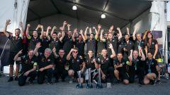 ePrix New York 2019, la festa del team Nissan e.Dams dopo la vittoria di Buemi