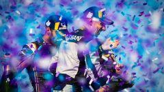 ePrix New York 2019, Sebastien Buemi esulta sul podio di Gara-1