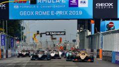 ePrix Roma 2019, la partenza della gara