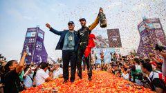ePrix Sanya, i festeggiamenti di Jean-Eric Vergne