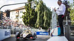 ePrix Svizzera 2019, il momento in cui Lotterer esce dai box in regime di bandiera rossa