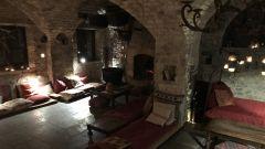 Eremito: uno degli spazi interni dell'eremo-resort