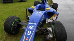 Ericsson e il suo crash con gomme intermedie