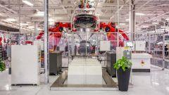 esla Gigafactory a Berlino: una catena di montaggio
