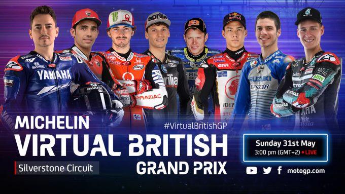 eSports MotoGP - Virtual British Gran Prix 2020 - MotoGP Lineup