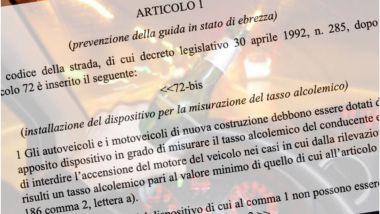 Etilotest obbligatorio, la proposta di legge di CommaUno