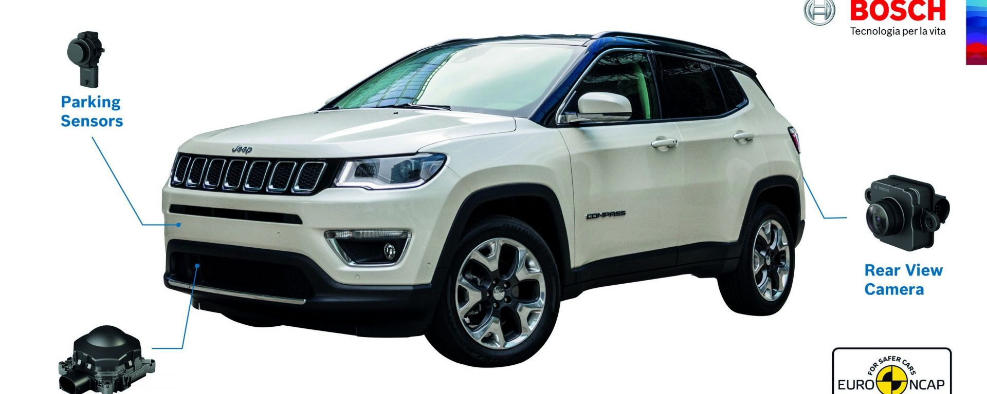 Euro NCAP: 5 stelle per Jeep Compass grazie alle tecnologie Bosch