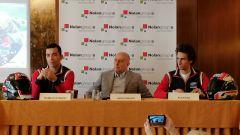 Evento Nolan a Milano, 13-02-2020: Danilo Petrucci (Ducati) e Alex Rins (Suzuki)