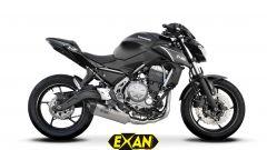 EXAN BLACK OVALE per Kawasaki Z650
