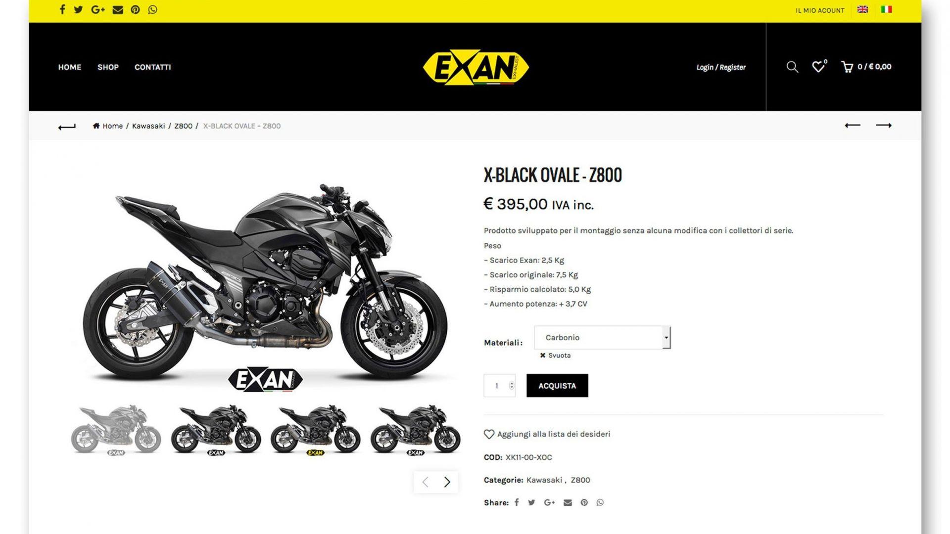 8275E LEOVINCE LV ONE EVO SLIP-ON YAMAHA XT1200Z XT 1200 Z SUPER TENERE - Ricambi Moto Lo Piccolo