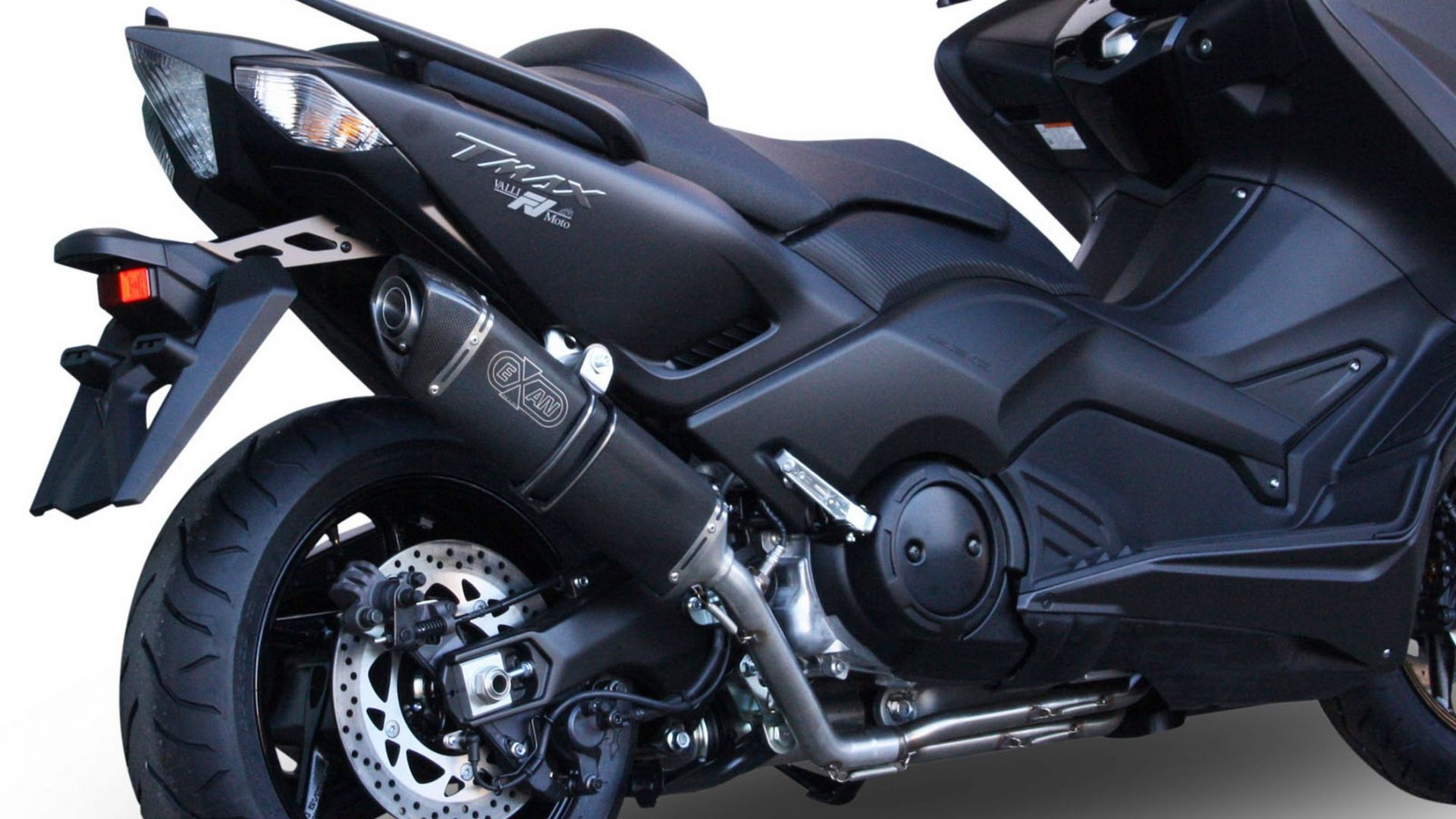 accessori moto exan scarico ovale x black per yamaha tmax 530 motorbox. Black Bedroom Furniture Sets. Home Design Ideas