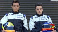F1 2001: Tarso Marques e Fernando Alonso (Minardi)