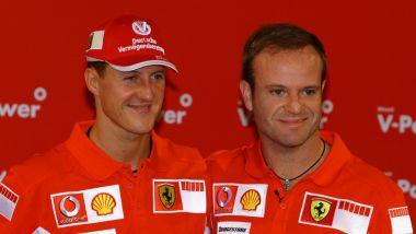 F1 2005: Michael Schumacher e Rubens Barrichello (Ferrari)