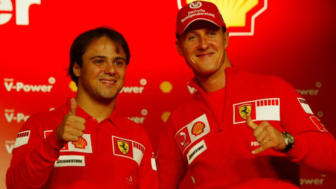 F1 2006: Felipe Massa e Michael Schumacher (Ferrari)
