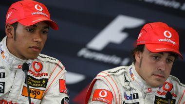 F1 2007: Lewis Hamilton e Fernando Alonso (McLaren)