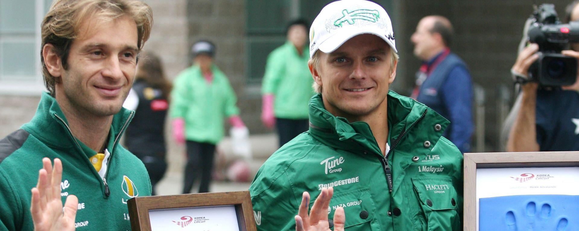 F1 2010: Jarno Trulli e Heikki Kovalainen ai tempi della Caterham