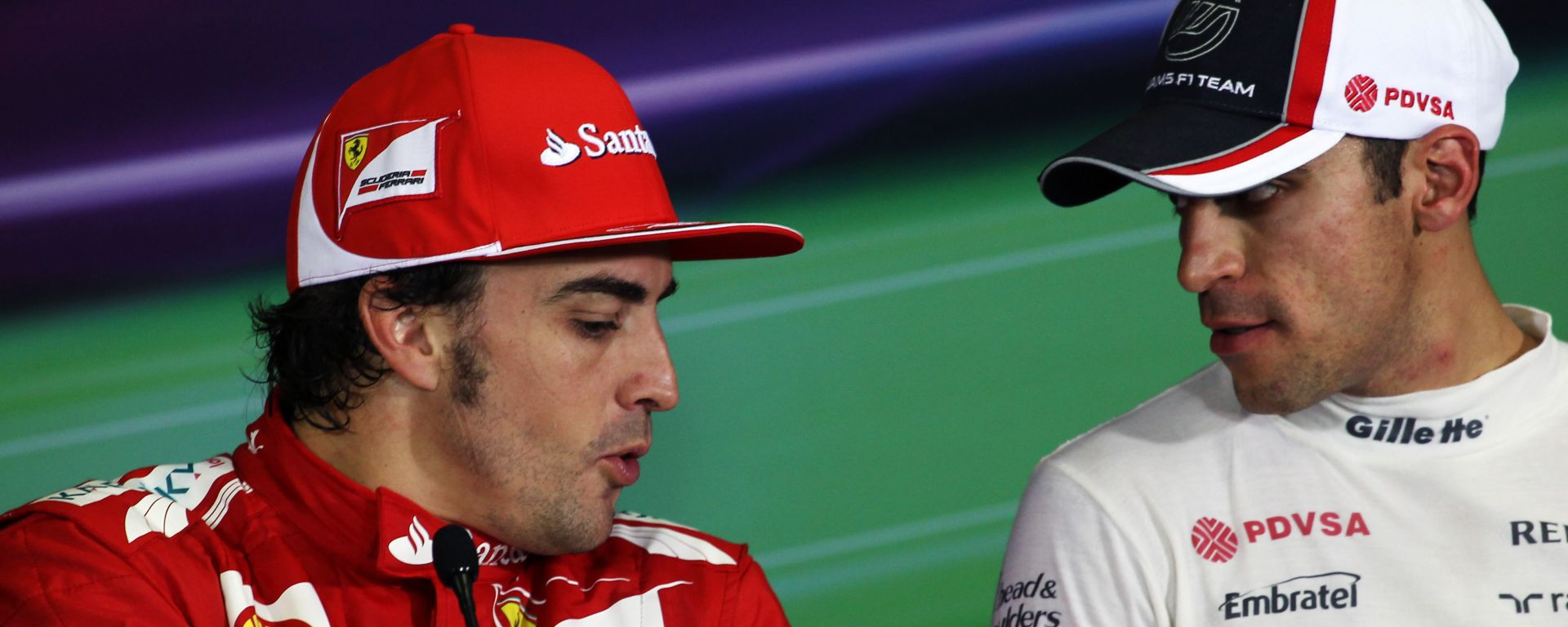 F1 2012: Fernando Alonso (Ferrari) e Pastor Maldonado (Williams)