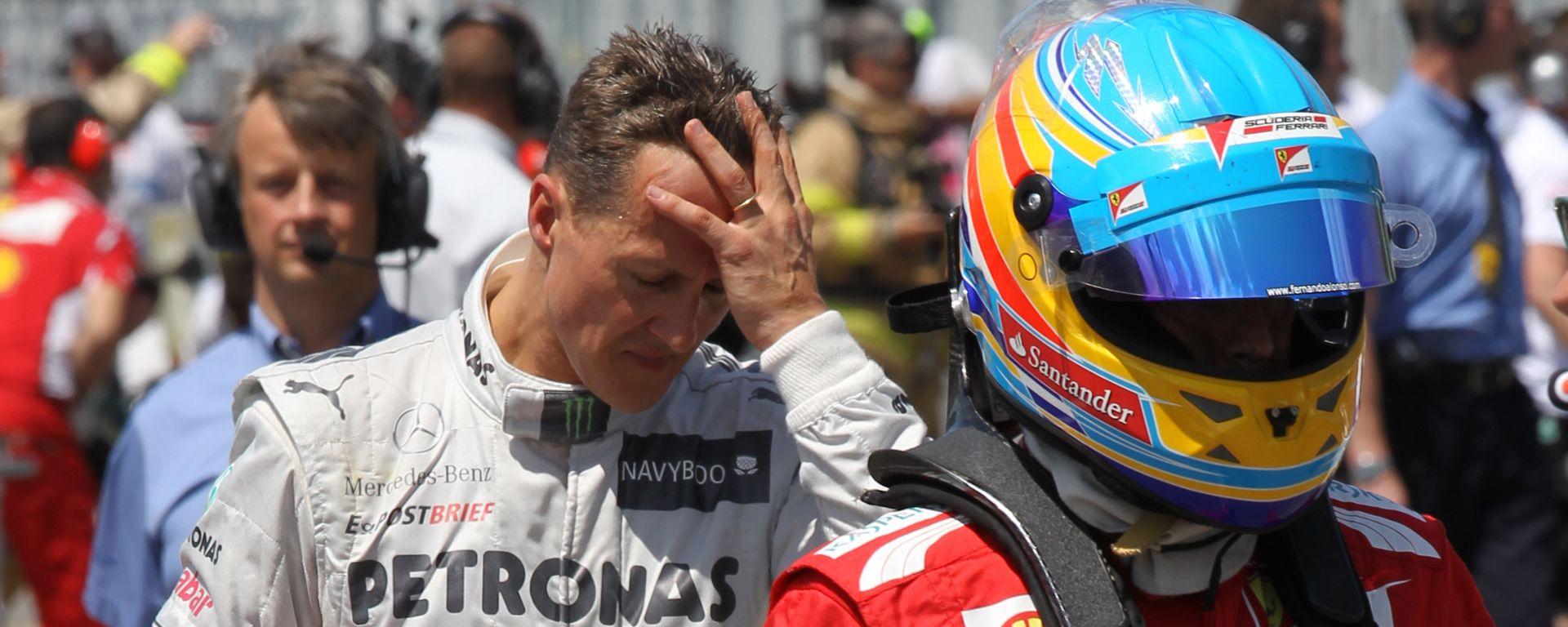 F1 2012: Michael Schumacher e Fernando Alonso