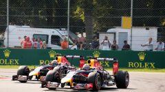 F1 2014: le Red Bull di Sebastian Vettel e Daniel Ricciardo duellano a Monza