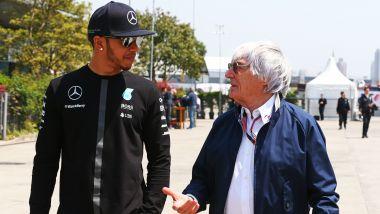 F1 2015: Lewis Hamilton (Mercedes) con Bernie Ecclestone