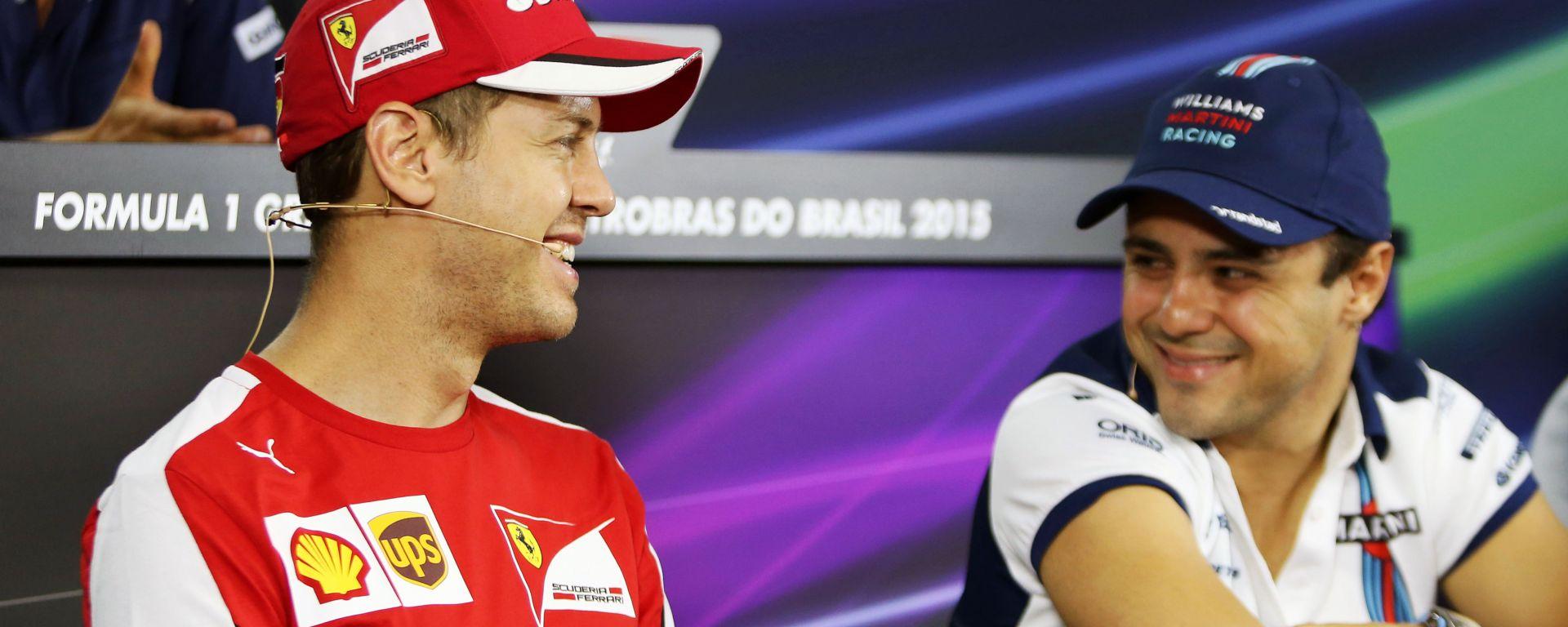 F1 2015: Sebastian Vettel (Ferrari) e Felipe Massa (Williams)